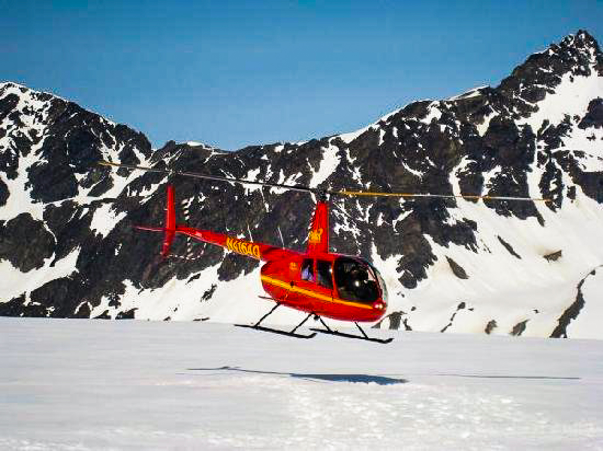 Helicopter to Mt. Marathon